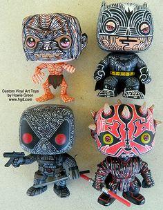 Funko Pop Custom vinyl art toys by Howie Green