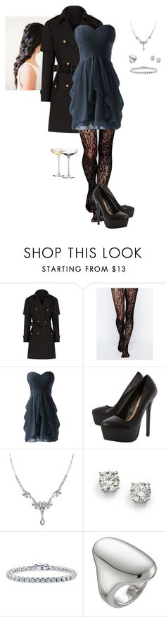 """Tights"" by gone-girl ❤ liked on Polyvore featuring Burberry, Gipsy, Steve Madden, 1928, Saks Fifth Avenue, BERRICLE, Jennifer Fisher and LSA International"