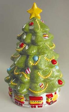 PfaltzgraffChristmas Heritage, Sculpted Tree Cookie Jar & Lid, $79.95 at Replacements, Ltd