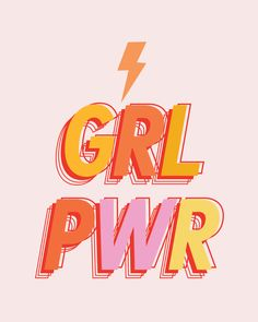 "GRL PWR - GIRL POWER Mini Art Print by Teesha + Derrick - Without Stand - 3"" x 4"""