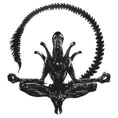 ALIEN XENOMORPH YOGA - HOLY MOTHER... http://www.redbubble.com/people/hackha/works/9698549-xenomorph-alien