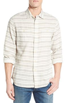 Grayers Grayers 'Dover' Trim Fit Double Woven Sport Shirt available at #Nordstrom