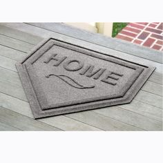 "Need this for my brother  ""home plate"" welcome mat"