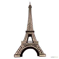 Cómo dibujar la Torre Eiffel: 14 pasos (con fotos)