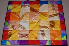 I love this a quilt made out of old guard flag silks. Can someone please make me one!! Best present ever