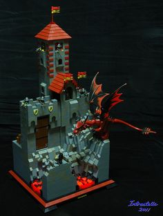 Nocturnus Guild watchtower on a Rakath mountain path. Built as part of the Eurobricks guilds of historica.