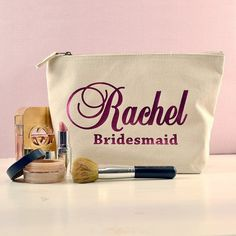 Hey, I found this really awesome Etsy listing at https://www.etsy.com/listing/226219819/ivory-personalised-bridesmaid-gift-make
