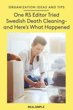 I Tried Swedish Death Cleaning—And Here's How My Family Reacted   Read the results and opinion of one RS editor who tested the popular organization and decluttering method of Swedish Death Cleaning. Plus, why you might want to try it for yourself. #declutter #organizationtips #realsimple #declutterideas #howtoclean #homeorganization
