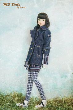 RYBG Creation gold button jean jacket Momoko or Nippon by okunkio