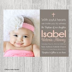 17 best baptismal invitation designs images on pinterest baptism joyful baptism invitation by threelittleparties on etsy 1300 stopboris Images