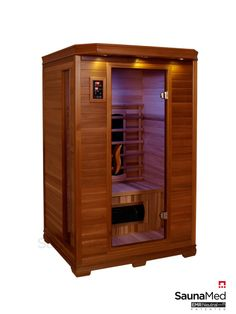2 Person Infrared Sauna | SaunaMed 2 Person Luxury Cedar FAR Infrared Sauna EMR Neutral™