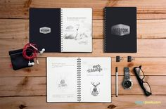 Free Notebook Mockup With Movable Elements Freebies Display Free Graphic Design MockUp Notebook Presentation PSD Resource Showcase Template Watch Notebook Mockup, Free Notebook, Notebook Design, Joomla Templates, Mockup Templates, Templates Free, Cool Notebooks, Behance, Photoshop