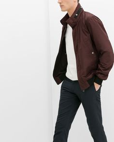 ZARA - SALE - JACKET WITH CONTRAST COLLAR AND CUFFS
