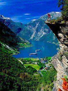 I've sat on that cliff! Gerainger Fjord, Norway