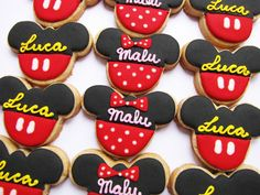 PETIT FOUR: Mickey and Minnie Mouse Cookies