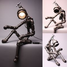 Desk Light Lamps Home Decor Lighting Table Lamp Handmade Faucet Robot Light