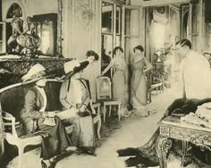 Georges Doeuillet Place Vendome Maison. He was born 17 July 1865 in Oise, Northern France and became one of France's best known Couturiers along with his peers Madeleine Chéruit, Jeanne Paquin, Paul Poiret, Redfern & Sons and the House of Charles Worth. In 1911 he was made an Officer of the Legion of Honour in recognition of his contribution to fashion. Doeuillet was President of the Chambre Syndicale de la Haute Couture until 1915.He was known for his refined and elegant design style.