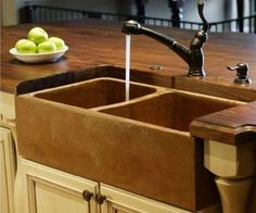 Cast Concrete Sinks and Solid Wood Countertops#Repin By:Pinterest++ for iPad#