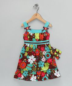 Take a look at this Brown Floral Dress - Toddler & Girls by Emily West & Youngland on #zulily today!