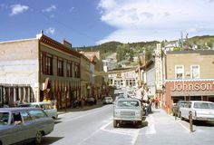 35mm Slide Colorado Street Scene Cars Town Johnson's 1973 Kodachrome