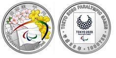 AFNB - Boletim Virtual: Entrega da Bandeira Olímpica - Rio 2016 para Japão 2020 -  As moedas deverão ser produzidas a partir de setembro e deverão ser comercializadas em dezembro de 2016. Os desenhos dos anversos incluem as bandeiras dos Jogos Olímpicos e Paralímpicos  cercados por flores de cerejeira  representando o Japão, assim como as flores do ipê-amarelo representando o Brasil. Também aparecem as legendas Rio 2016 e Tokyo 2020.