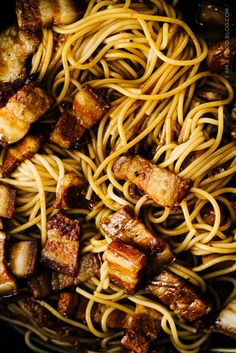 Vietnamese Caramelized Pork Belly Pasta