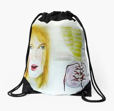 """""""Young and Pretty"""" by Manana11 Drawstring BAG"""