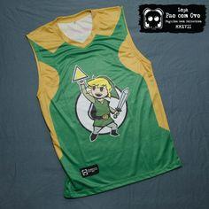 Camiseta Link Zelda Triforce Regata Basquete Exclusiva Princesa 0142cd77c80