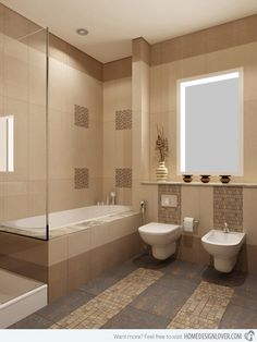 Beige and cream bathroom