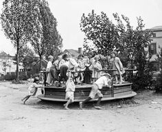 Recess on an old school playground...