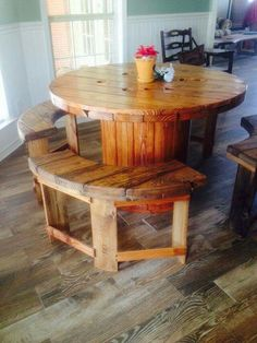 Spool table & pallet bench