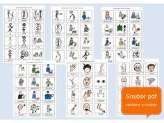 Komunikační kartičky, obrázková řeč (eBook - soubor v PDF)     Najděte společnou řeč, obrázky vám pomohou!    V eBooku najdete komunikační kartičky se symboly Školy Gabriely Pelechové připravené k tisku. Soubor obsahuje celkem 780 obrázkových symbolů s popisky určených k náhradní komunikaci a navíc 105 kartiček s písmeny a čísly. Komunikační kartičky jsou určeny dětem i dospělým s narušenou komunikační schopností, usnadňují porozumění mluvené řeči. Jsou vhodné především pro osoby s diagnózou a Word Search, Words, Autism, Horse