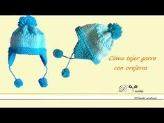 Cómo tejer Gorro de niño con orejeras | Crochet y Dos agujas - Patrones de tejido