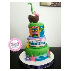 P257 torta hawaiana pinksugar#pinksugar #cupcakes  #barranquilla #pasteleria #reposteriacreativa #tortas #fondant #reposteriabarranquilla #happybirthday  #vainilla  #cake #baking  #galletas #cookies  #buttercream #vainilla  #oreo  #cupcakesbarranquilla #brownie #brownies #chocolate #hawaiana #tortahawaiana #hawaianacakes