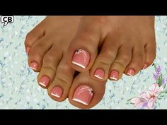 2 Diseños de uñas de pies para Novia 👰 - YouTube Cotton Candy Nails, Star Nails, Daily Fashion, Projects To Try, Nail Art, Makeup, Youtube, Watermelon Nails, Nail Colors