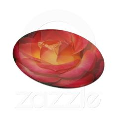 A Rose Aflame Plate #gift #photogift #zazzle