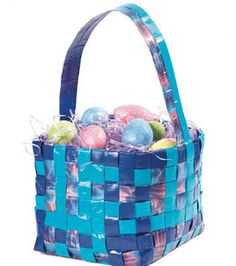 Easter basket made out of duct tape :) @Duck Brand