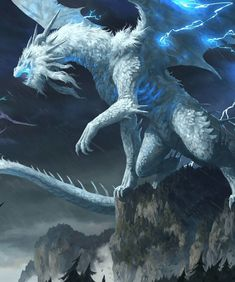 Space and astronomy lightning dragon, lightning farron, how to draw lightning, thunder and lightn Dark Fantasy Art, Final Fantasy, Mythical Creatures Art, Mythological Creatures, Lightning Drawing, Ice Dragon, Dragon Book, Dragon Rpg, Green Dragon