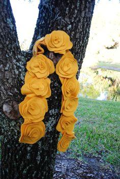 fleece flower scarf ♥