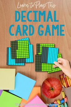 Learn more about teaching decimals. Get ideas for anchor charts and games. Click to read on Shut the Door and Teach. #math #upperelementary $ Teaching Decimals, Math Fractions, Dividing Fractions, Equivalent Fractions, Multiplication, Division Math Games, Fun Math Games, Math Literacy, Maths