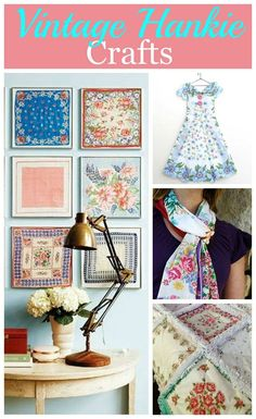 If you've ever wondered what to do with all those vintage hankies you got from your grandma, here are 10 craft projects to repurpose those handkerchiefs! via @HouseHawthornes