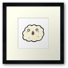 surprised cloud cartoon character