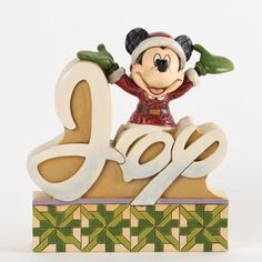 Jim Shore for Enesco Disney Traditions Mickey Word Plaque, Mickey Mouse provides a little JOY this holiday season with this fully sculpted word plaque. Designed by Jim Shore for Disney Traditions. Hades Disney, Walt Disney, Deco Disney, Disney Word, Disney Magic, Disney Fun, Disney Stuff, Jim Shore Christmas, Mickey Christmas