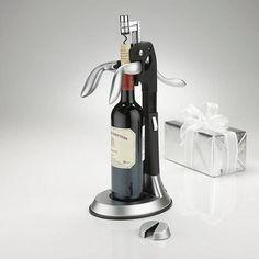 Deluxe Silver Tower Corkscrew - Bacchus Wine Cellars