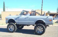 71 Chevy K5 Blazer. 20'x12' wheels, 35' tires