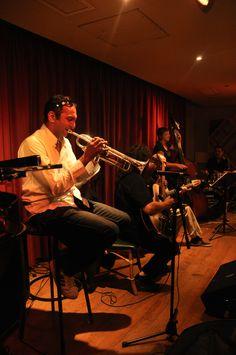 #Jazz  #Montpellier avec Olivier Dulion à la trompette // Hot Club de Montpellier