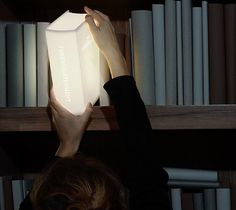 There are a lot of #books about The Enlightenment, but none of them actually provide #light. - http://thegadgetflow.com/portfolio/book-lamp-125/