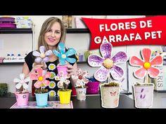 Artesanato com Garrafa Pet - Como Fazer Flores de Plástico Reciclado - Faça Você Mesmo - DIY - YouTube