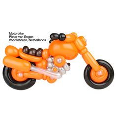 Orange entries Balloon Motorbike Pieter van Engen Voorschoten, Netherlands