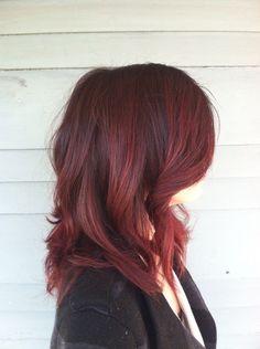 Rinse Salon - San Diego, CA, United States. Red merlot color melt by Elizabeth.